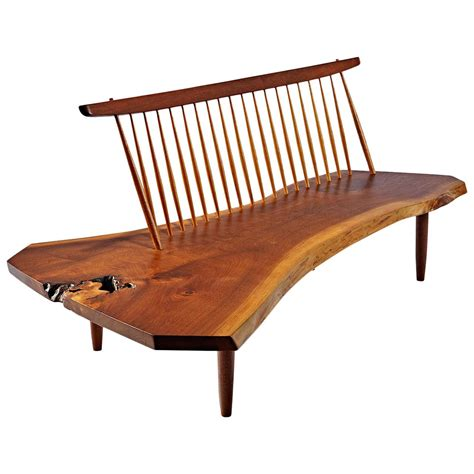 bench of george nakashima conoid bench at 1stdibs