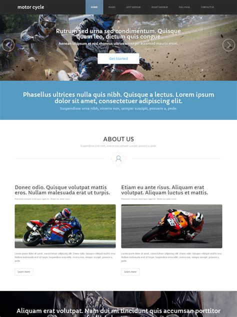motosport templates motorsport site template motorcycle website templates