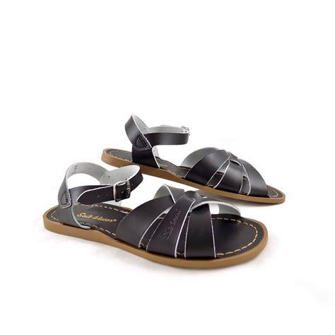 salt sandals salt water sandals original water sandals black leather