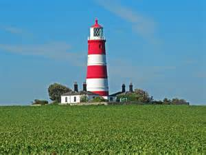 norfolk lighthouse and piers including happisburgh