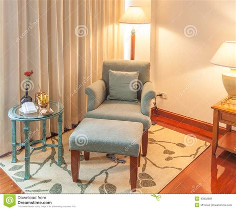 hotel armchairs relaxing corner reclining armchair ottoman and table in