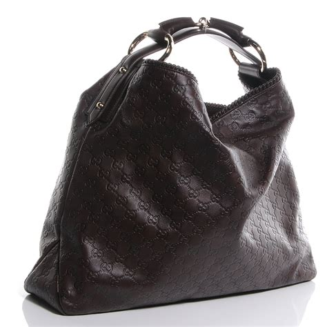 Gucci Chain Large Hobo by Gucci Guccissima Large Horsebit Chain Hobo Brown 61052