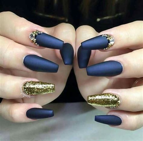 Nail Designs Blue And Gold