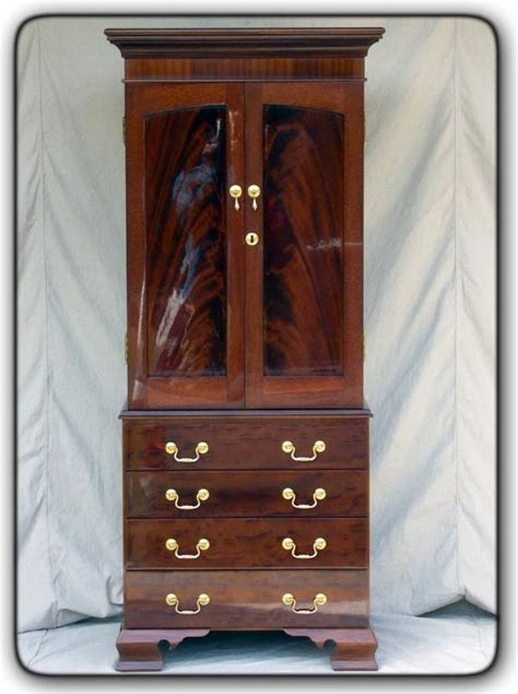 Custom Jewelry Armoire by Fivebraids Custom Woodworking Jewelry Armoire