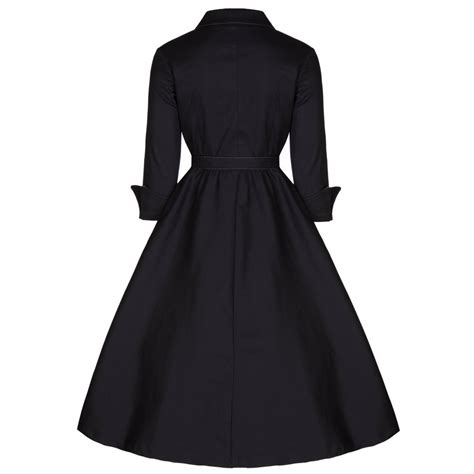 Black Dressdress Tiledress Black Vivi vivi black swing dress vintage inspired fashion lindy bop