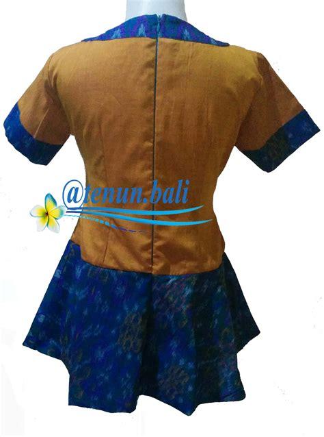 Asd9 Baju Atasan Blouse Wanita Blouse Muslim Tenun Tunik jual baju tenun ikat endek bali model peplum s tenun