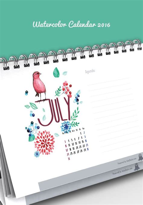 watercolor 2015 2016 printable calendar u create friday special 6 print ready calendars for 2016 only