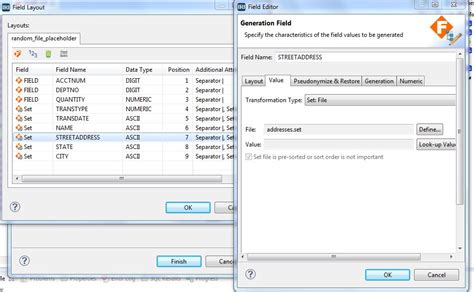 layout editor job using the rowgen test data job wizard iri