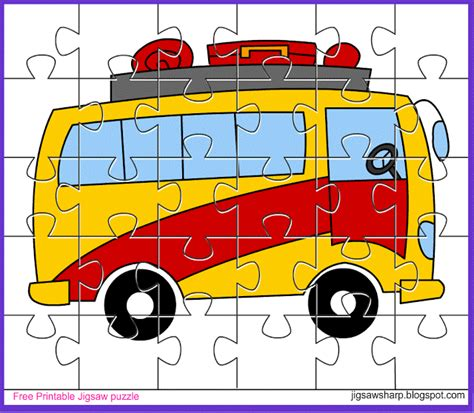 printable word jigsaw puzzles free printable jigsaw puzzle game bus jigsaw puzzle