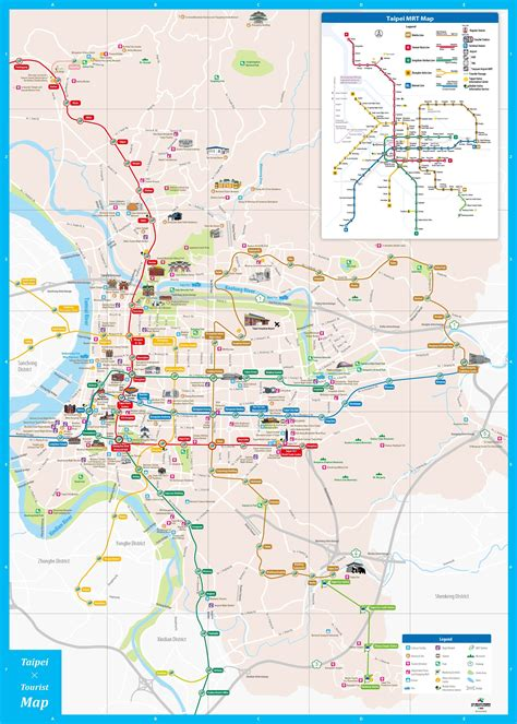 tourist map of maps update 540560 taiwan tourist attractions map