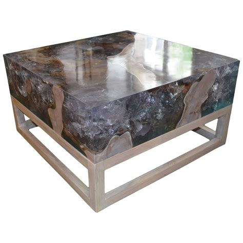 Resin Coffee Table Andrianna Shamaris St Barts Cracked Resin Coffee Table Or Side Table For Sale At 1stdibs