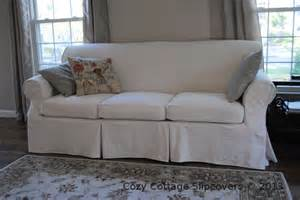 cozy cottage slipcovers brushed canvas sofa slipcover
