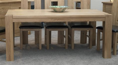oak dining room table pemberton solid oak dining room furniture large chunky