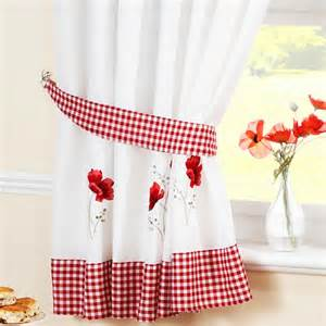 Ready Made Kitchen Curtains Poppy Ready Made Kitchen Curtains Kitchen Curtains Curtains Linen4less Co Uk