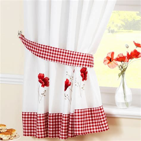 Poppy Kitchen Curtains Poppy Ready Made Kitchen Curtains Kitchen Curtains Curtains Linen4less Co Uk