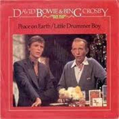 david bowie bing crosby xmas song record press