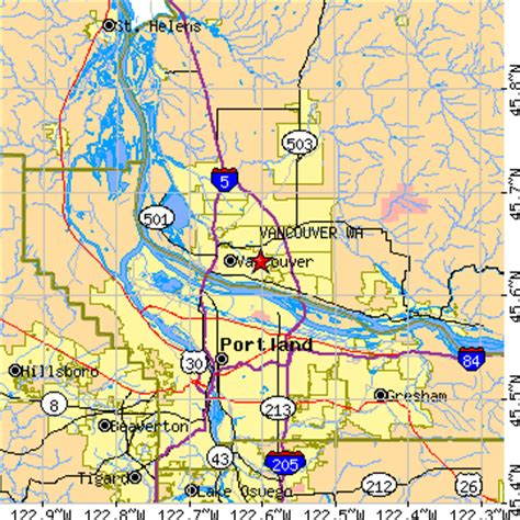 zip code maps vancouver wa vancouver washington wa population data races