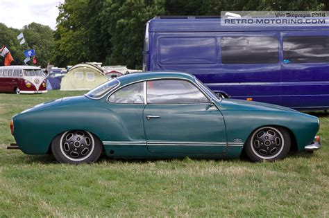 karmann ghia green green vw karmann ghia coupe on turtleback wheels pph200e