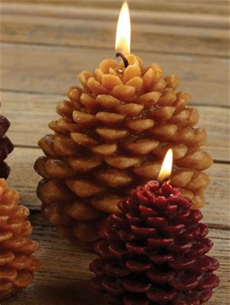 pine cone shaped candle artisan scented candles