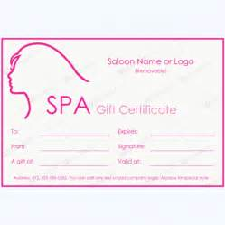 Spa Day Gift Certificate Template by 50 Plus Spa Gift Certificate Designs To Try This Season