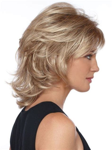 above the shoulder haircut with soft bangs 155 best hair styles and updo for wedding women over 50
