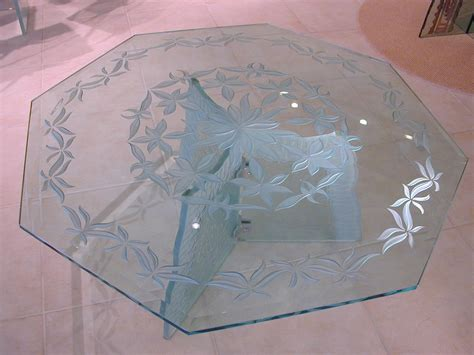 etched glass dining table etched glass tables sans soucie glass