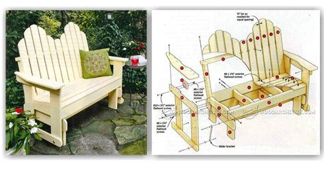 how to build a glider bench adirondack glider bench plans woodarchivist
