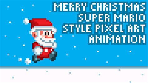 best pixel merry christmas merry mario style pixel animation by pxlflx