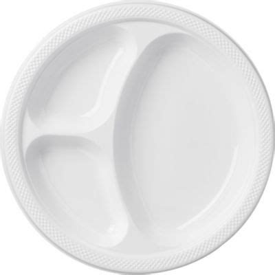 plates with separate sections white plastic divided dinner plates 20ct paper plastic