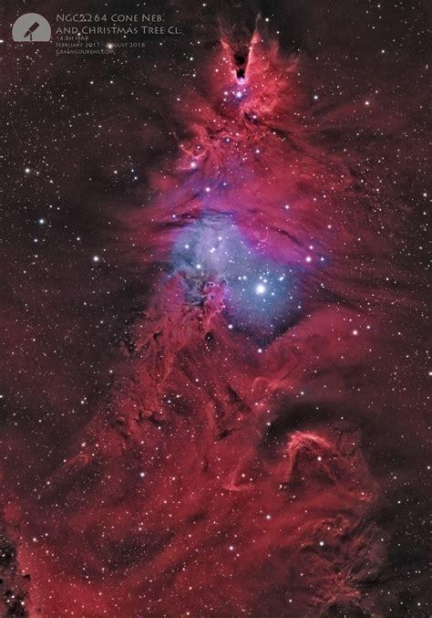 christmas tree nebula ngc2264 cone nebula and tree cluster graem lourens astrophotography