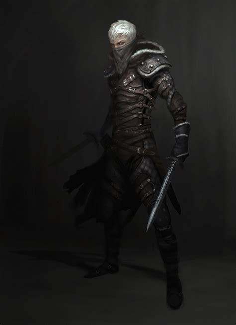 assassin by mineworker dark elf drow short swords thief