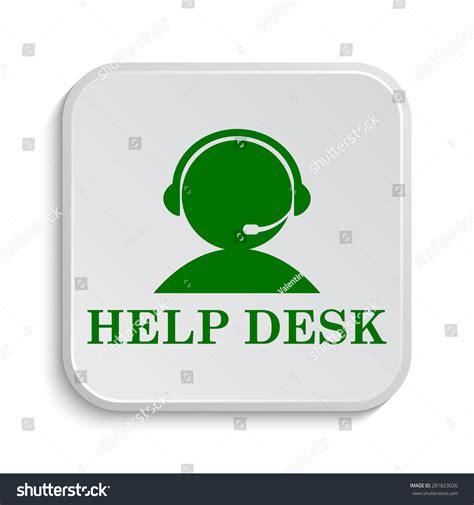 help desk icon internet button on white background stock