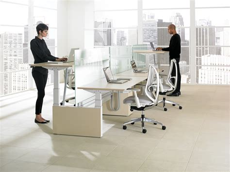 teknion benching height adjustable bench gallery