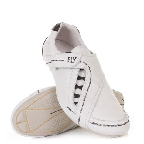 sofa shoes mens fly london sofa white black leather casual trainers