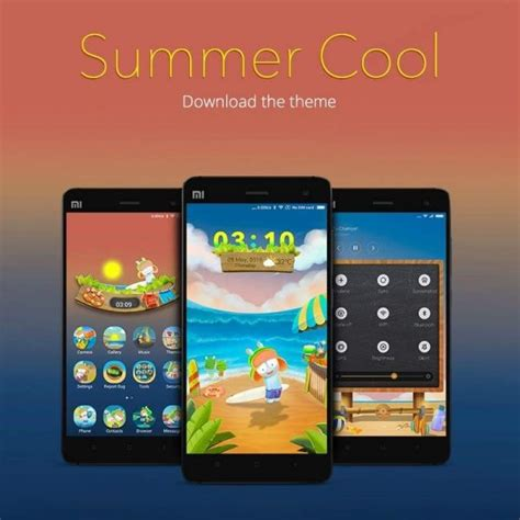 xiaomi official themes summer cool an official mi india theme for every xiaomi