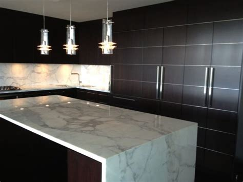 contemporary countertops furniture interesting waterfall countertop for kitchen