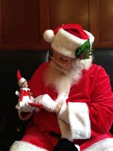 santa talking with on the shelf would make for great