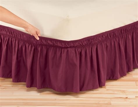 elastic bed skirts solid wrap around elastic bed skirt by oakridgetm ebay