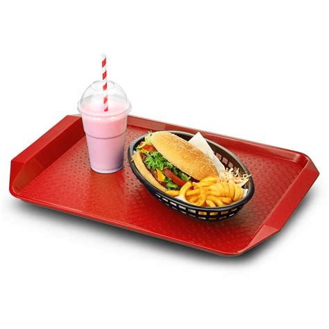 food tray plastic fast food tray with handles 17 x 12 quot