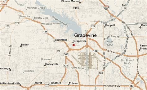 grapevine texas map grapevine location guide