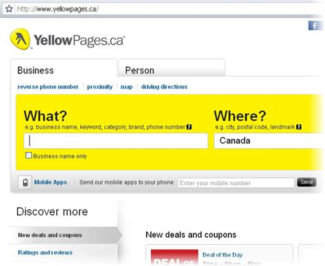 Lookup Address Yellow Pages Canada 411 Pages Jaunes
