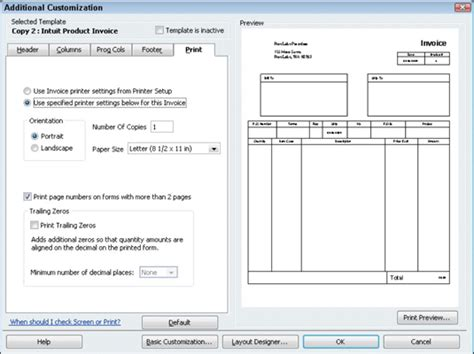 how to create a customized invoice form in quickbooks 2010