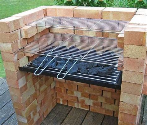 Backyard Grill Placement Cool Diy Backyard Brick Barbecue Ideas Barbecues Bricks