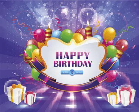 happy birthday design elements happy birthday elements card vector free vector in