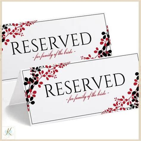 reserved table sign template free brokeasshome