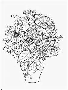 vase and flowers coloring page coloring home