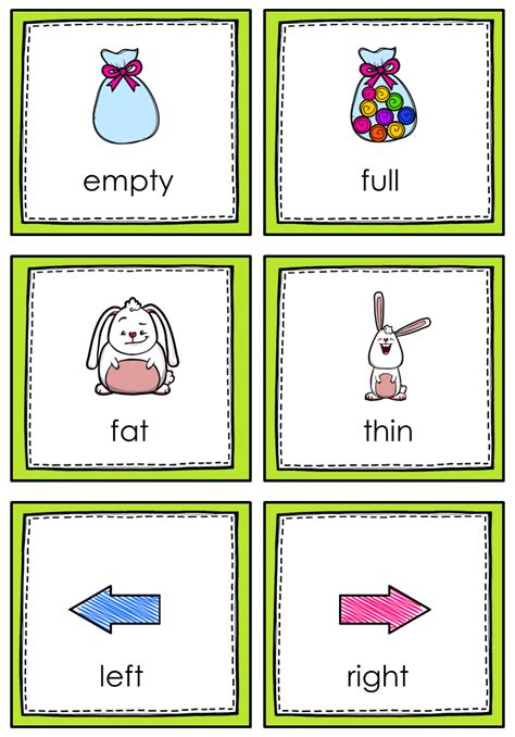 english themes for preschool opposites memory game gaming kindergarten and english