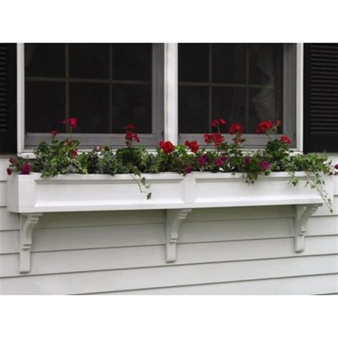 outdoor window box 72 quot handcrafted white cedar outdoor patio window box