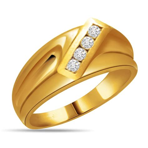 Gold And Diamond Rings For Men Mens Yellow Diamond Ring