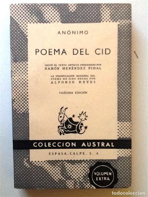 libro poema del mio cid poema del mio cid 1963 anonimo ramon menende comprar libros cl 225 sicos en todocoleccion